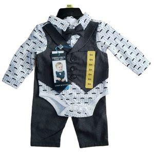 Wedding Ready❤️ Adorable 3-Piece Vest Set